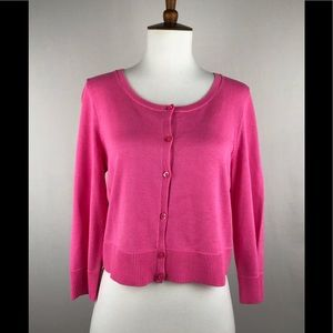 Lilly Pulitzer pink sweater shrug size large